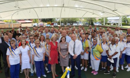 Aspley Memorial Bowls Green Cover Opening